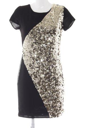 Set Vestido de lentejuelas negro-color oro elegante