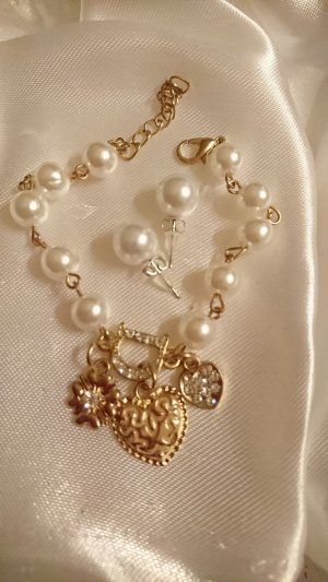 Pearl Bracelet gold-colored-natural white