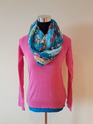 Set: Pinker Pullover, blaues Top & Tuch