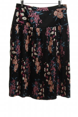 Set Pleated Skirt floral pattern elegant
