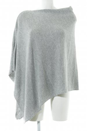 Set Poncho light grey casual look