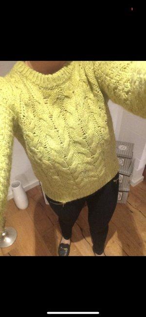 Twin set Pullover a maglia grossa giallo lime