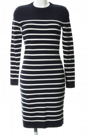 Set Sweater Dress dark blue-white horizontal stripes casual look