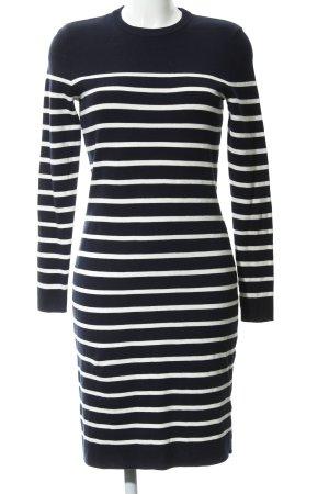 Set Sweater Dress dark blue-white horizontal stripes casual look