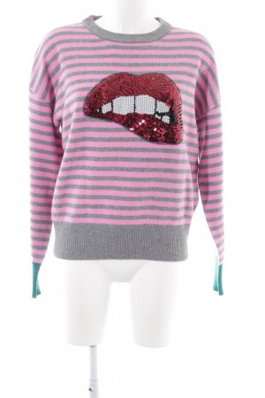 Set Kraagloze sweater prints met een thema casual uitstraling