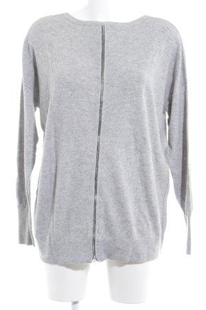 Set Maglione girocollo grigio chiaro stile casual