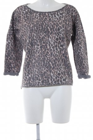 Set Kraagloze sweater luipaardprint dierenprint