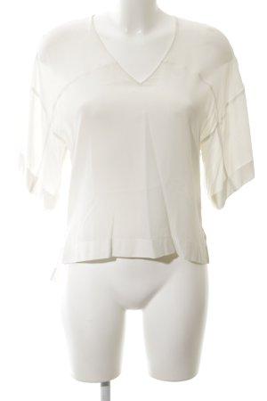 Set Blouse en soie blanc style d'affaires