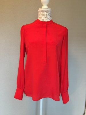 Oui Set Silk Blouse red silk