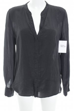 Set Zijden blouse zwart elegant