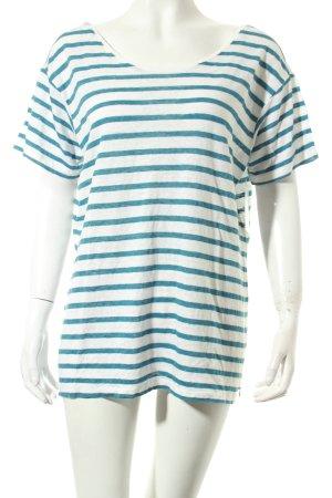 Set Shirt kornblumenblau-weiß Streifenmuster Casual-Look