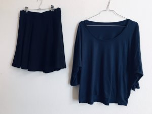 Set Shirt/Top + Glockenrock schwarz Gr. 36/S