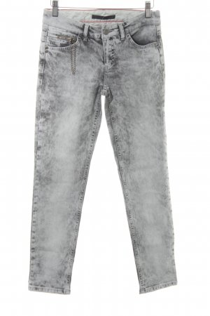 Set Skinny Jeans anthrazit-hellgrau Casual-Look