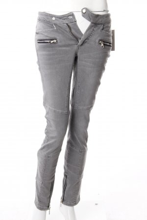 Set Skinny Jeans grau Biker-Optik