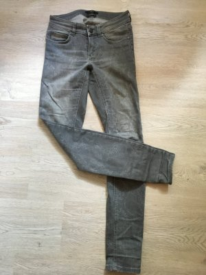 SET Skinny Jeans grau Größe 34 - low waiste