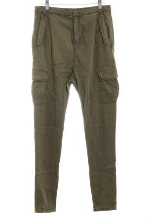 Set Skinny Jeans grüngrau-olivgrün Casual-Look