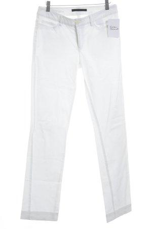 Set Slim Jeans weiß schlichter Stil