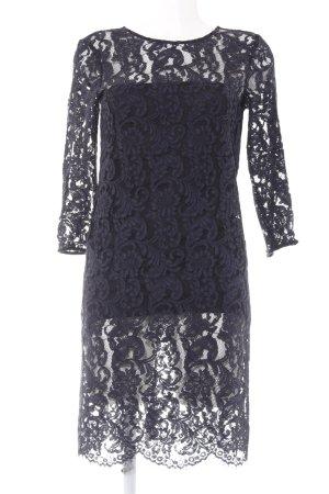 Set Spitzenkleid schwarz-dunkelblau Elegant
