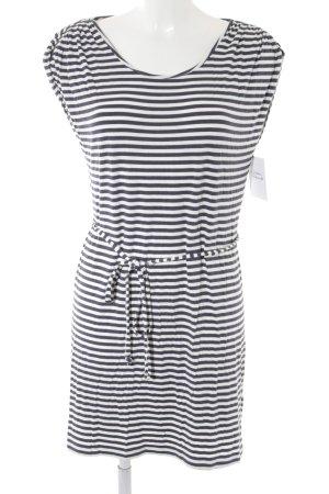 Set Strandkleid dunkelblau-weiß Streifenmuster Casual-Look