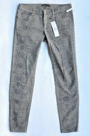 SET Stretch-Jeans Schlangen-Muster kitt grau Gr. 40 UNGETRAGEN mit Etikett