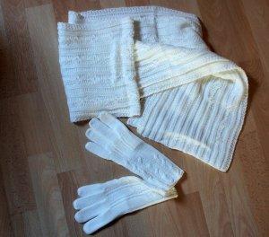 Bufanda blanco puro Acrílico