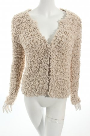 Set Strickjacke hellbeige Kuschel-Optik
