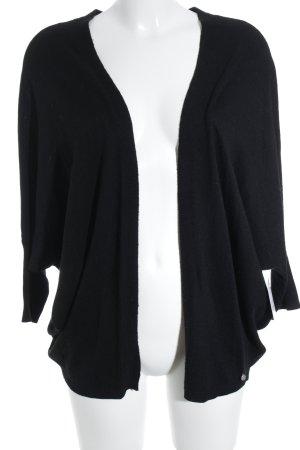 Set Giacca in maglia nero stile casual