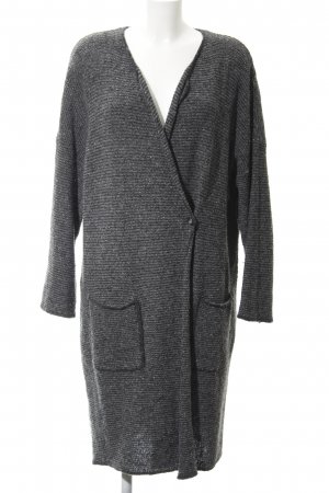 Set Abrigo de punto gris-gris antracita moteado look casual