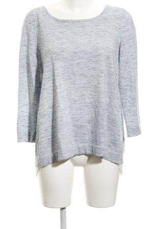 Set Gebreide trui azuur-wit gestippeld casual uitstraling