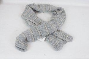 Set Écharpe en tricot argenté-gris clair tissu mixte