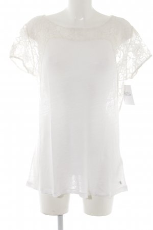 Set Knitted Jumper natural white lace look