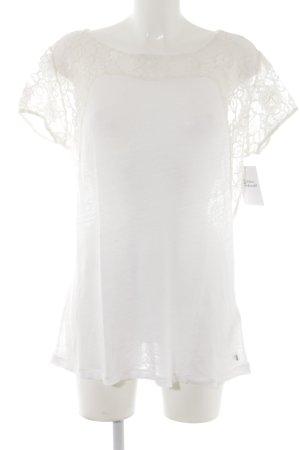 Set Camisa tejida blanco puro Apariencia de encaje