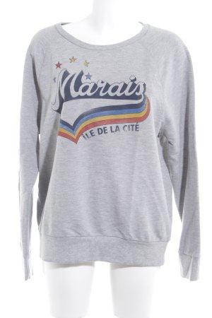 Set Sweatshirt Motivdruck Casual-Look