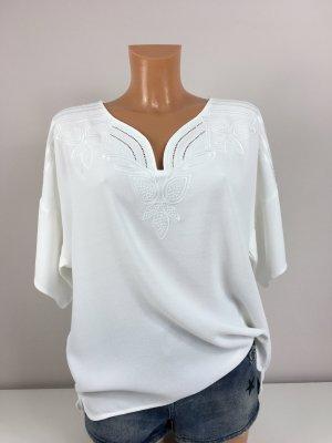 Set T-Shirt Bluse Oberteil Gr. M/38-40 Weis