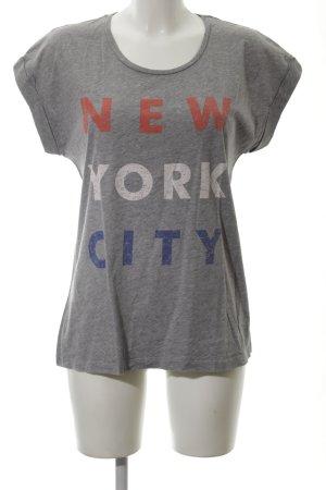 Set T-Shirt Schriftzug gedruckt Casual-Look