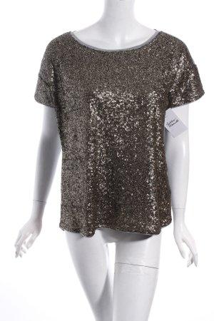 Set T-Shirt hellgrau-goldfarben Party-Look