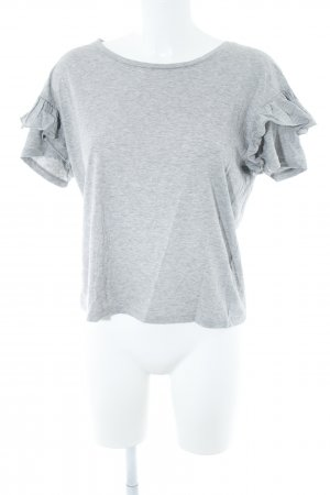 Set T-Shirt hellgrau meliert Casual-Look