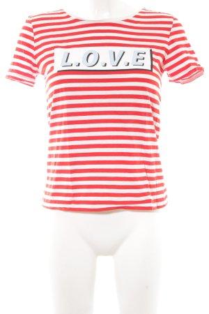 Set T-Shirt rot Schriftzug gedruckt Casual-Look