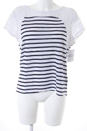 Set T-Shirt weiß-dunkelblau Streifenmuster Marine-Look