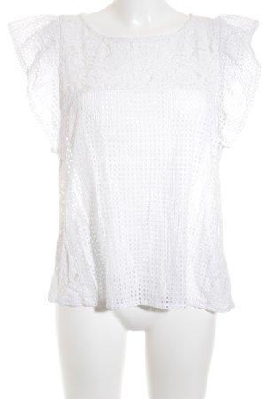Set T-Shirt weiß Transparenz-Optik