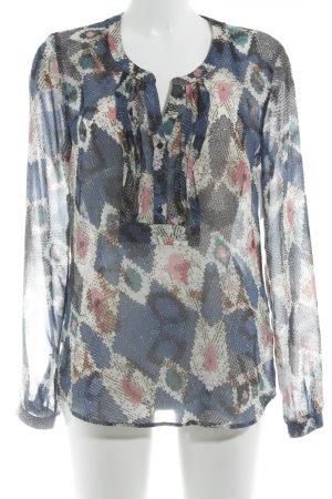 Set Transparenz-Bluse abstraktes Muster Elegant