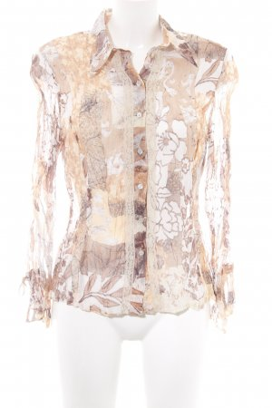 Set Transparenz-Bluse Blumenmuster Casual-Look