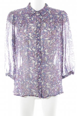 Set Transparenz-Bluse florales Muster Casual-Look