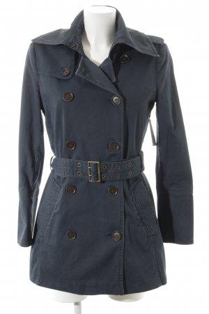 Set Trenchcoat graublau Destroy-Optik