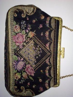 SET true Vintage Gobbelin Set Handtasche Geldbörs Puderdose mut Spiegel