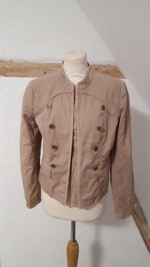 Set Veste militaire brun sable coton