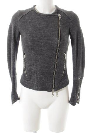 SET Urban Deluxe Kurzjacke grau meliert schlichter Stil
