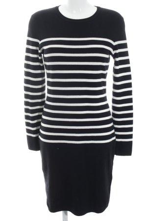 SET Urban Deluxe Langarmkleid schwarz-weiß Streifenmuster Casual-Look