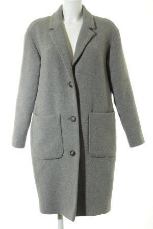 SET Urban Deluxe Wollmantel grau-weiß meliert Elegant