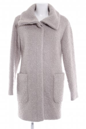 SET Urban Deluxe Wool Coat light grey weave pattern casual look